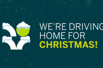 Driving home for Christmas banner